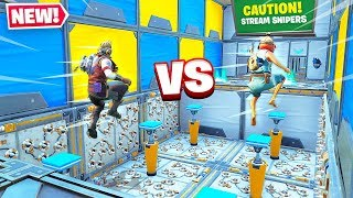I 1v1 NINJA's DEATHRUN and THIS HAPPENED... Fortnite Creative
