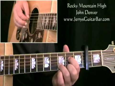 How To Play John Denver Rocky Mountain High (intro only) - YouTube
