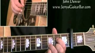 How To Play John Denver Rocky Mountain High (intro only)