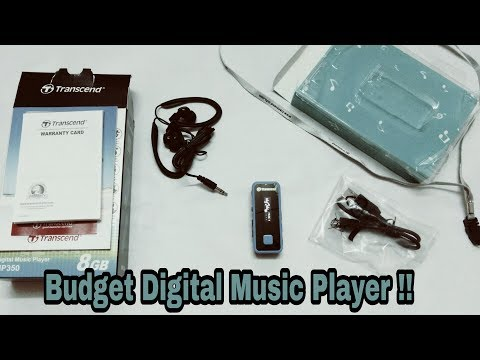 Transcend Budget Digital Music Player unboxing and Review !! Is it worth to buy ??