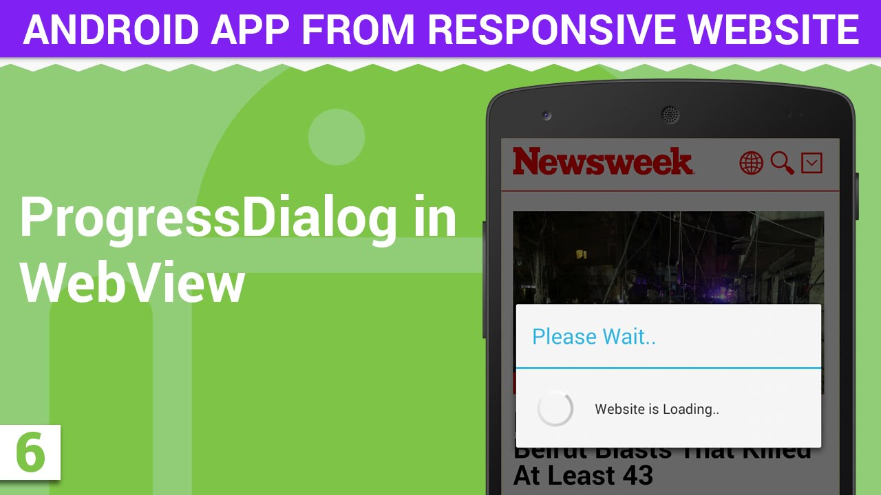 Android Webview with Progress Dialog   Android App from Responsive Website  - 6