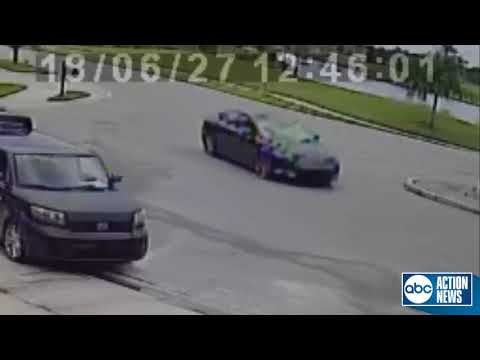 Surveillance video of vehicle of interest in Wesley Chapel e