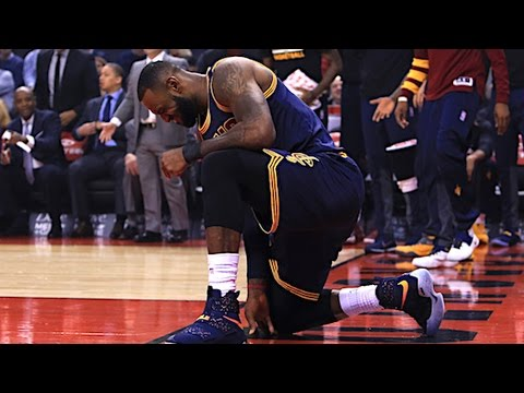 Lebron Injured After Alley Oop From Kyrie Irving