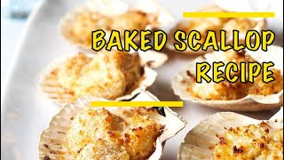 Easy Baked Scallops Recipe