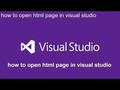 How To Open Html Page In Visual Studio