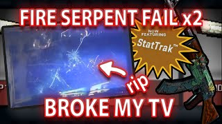 STATTRAK FIRE SERPENT TRADE UP FAIL - BROKE MY TV