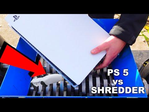 Shredding A BRAND NEW PS5!  Sony Playstation 5 Satisfying ASMR Experiment