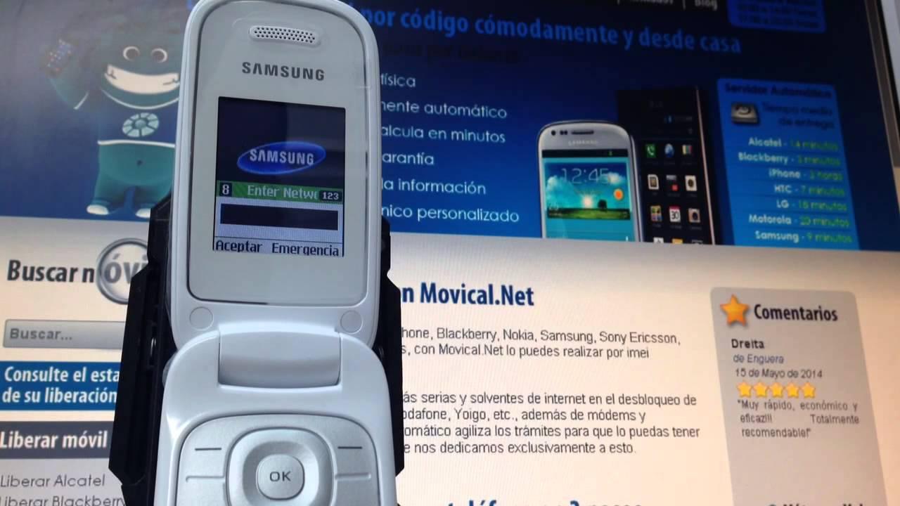 Liberar samsung e1270 de yoigo con movical net youtube - Movical net liberar ...