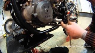 мотоцикл Kayo T6 - замена масла и промывка фильтров