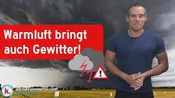 Nächste Woche kräftige Gewitter und schwülwarm