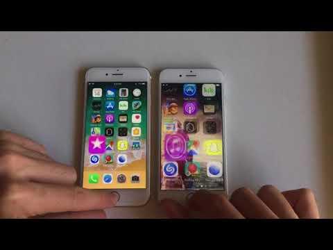 iPhone 6 ios 10.3.3 vs 11.0.3