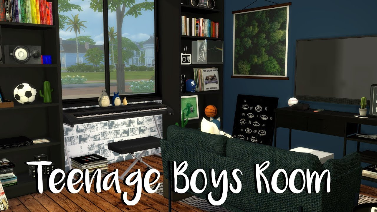 The Sims 4 Teenage Boys Bedroom Youtube