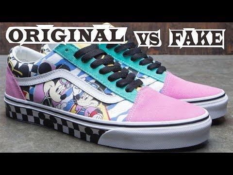 Vans X Disney Old Skool 80's Mickey Original & Fake
