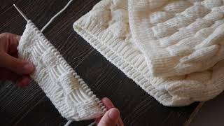 Уроки вязания спицами для начинающих | Узор «Бабочка» спицами.