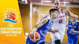 Poland v Greece - Full Game - FIBA U20 European Championship 2019