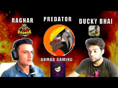 PUBG MOBILE with Ducky Bhai, Predator, Ahmad Gaming - Ragnar Live Gaming