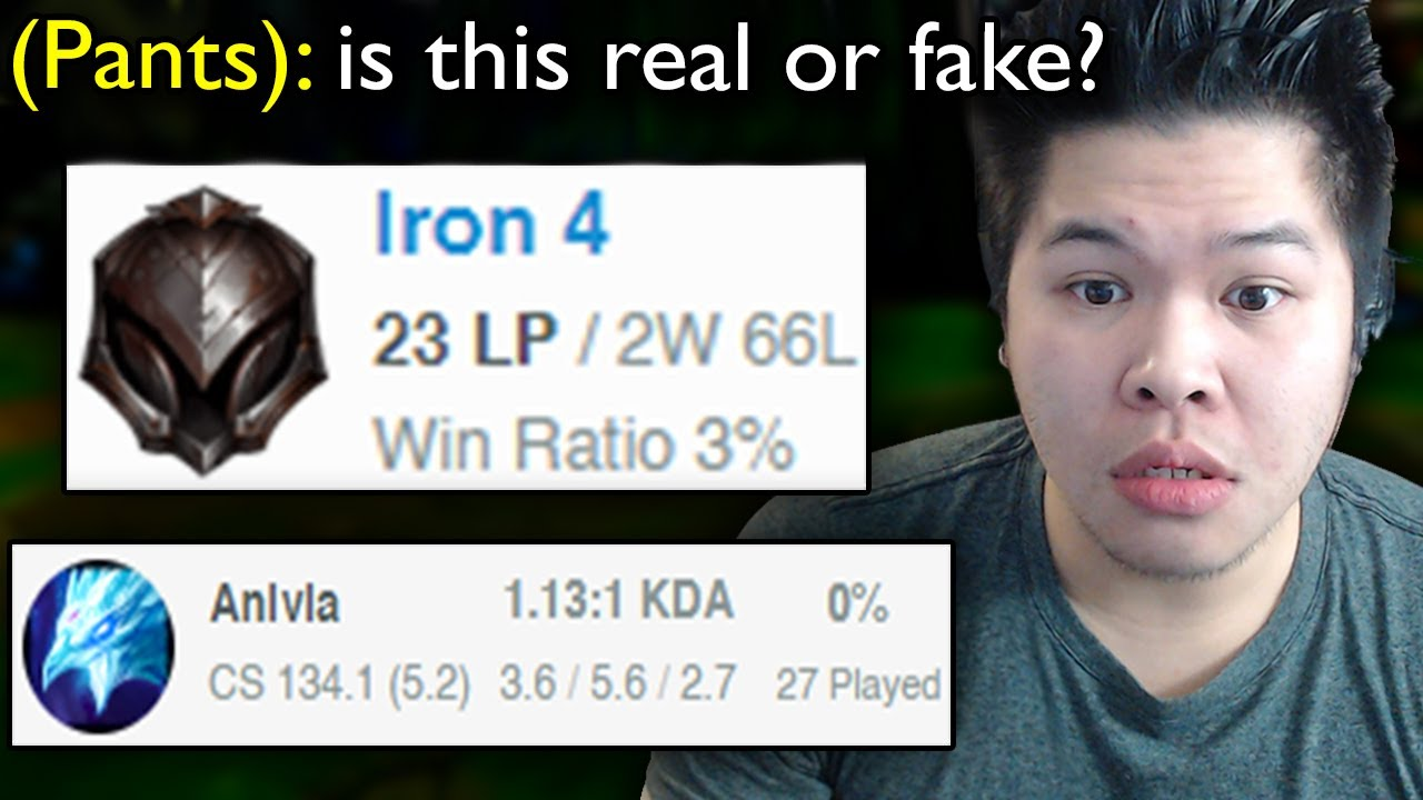 Is it possible to have a 3% Winrate in League of Legends?