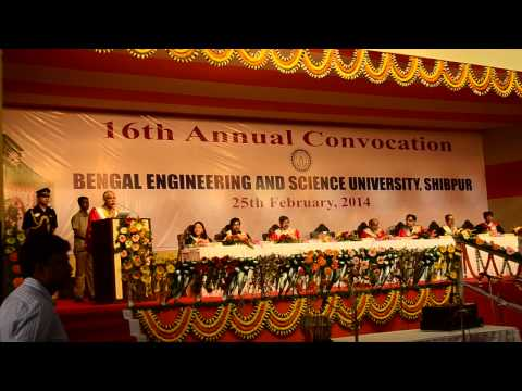 16th Annual Convocation of Bengal Engineering & Science University, Shibpur, 2014 - Part 4