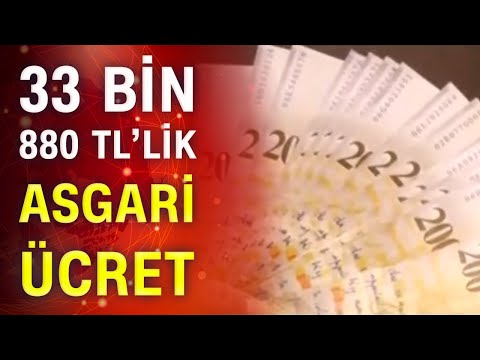 33 Bin 880 TL'lik asgari ücret