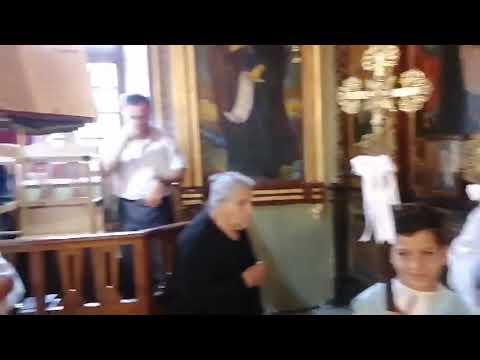 Από Θεία λειτουργία της Κυριακής 31 Μαΐου 2020 στον ΙΝ Παναγίας Κεχαριτωμένης στην Χώρα Καλύμνου