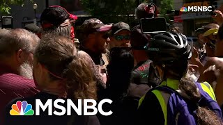 Demonstrators Confront Counter-Protesters In Downtown Louisville   MSNBC