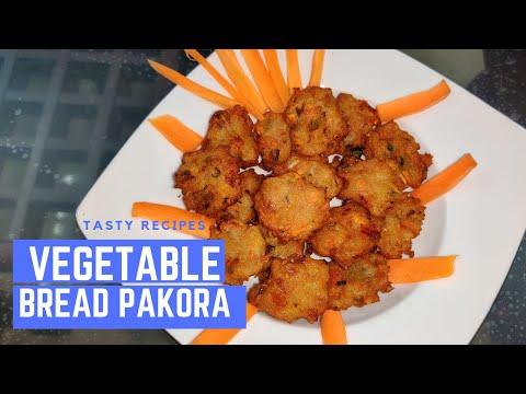 ভেজিটেবল ব্রেড পাকোড়া || Vegetable Bread Pakora || Bengali Evening Snacks || Tasty Recipes