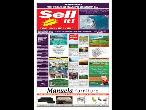Sell it ! Newspaper Bali .July 2016 . 32 nd Edition