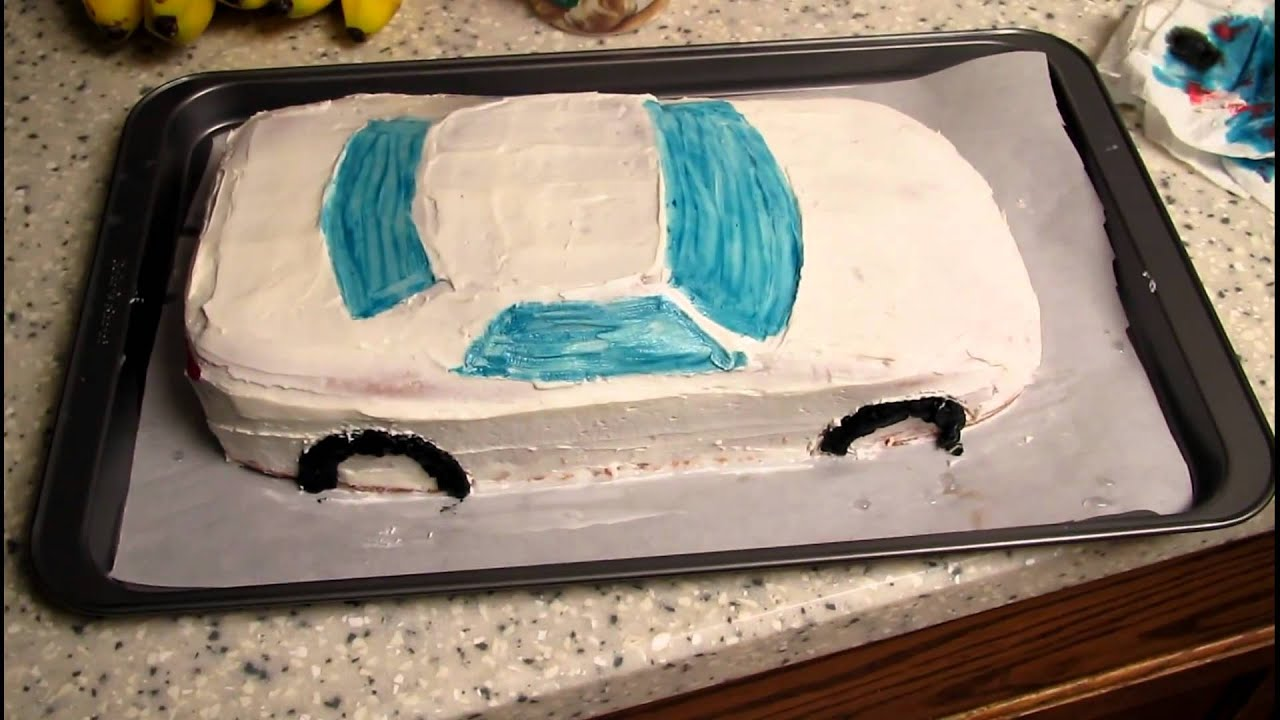 Cake Decorating Racing Car : Race Car Birthday Cake - YouTube