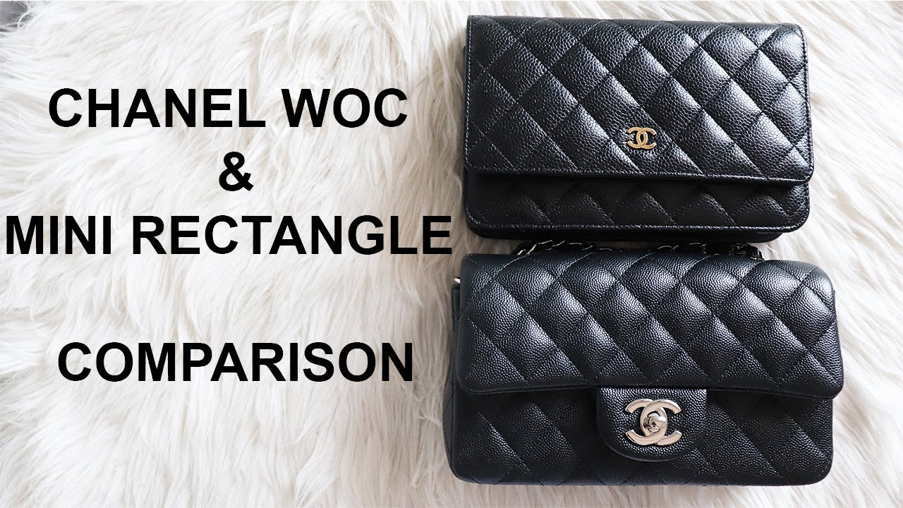 Mini Vs Woc Chanel Woc Mini Rectangle Comparison