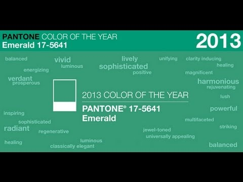pantone colour of the year emerald
