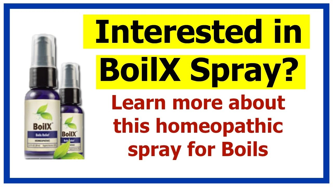 Boilx Spray Boilx Homeopathic Spray Youtube