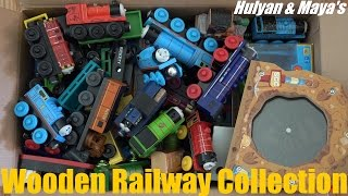 Repeat youtube video Some of Hulyan and Maya's Thomas & Friends Wooden Railway Collection :-)