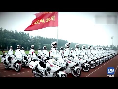 The amazing techniques of the presidential guard unit of the Chinese People's Armed Police Force