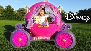 Dynacraft 24v Disney Princess Carriage Ride-on Powerwheels with Cinderella and Rapunzel Doll thumbnail
