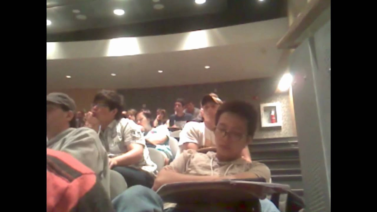 Falling asleep in lecture