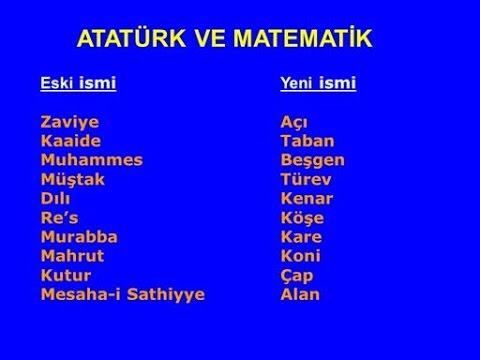 Atatürkün Matematik Eğitimine Yaptığı Katkılar Youtube