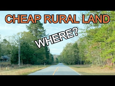 Where To Buy CHEAP Rural Land? BEST PLACES