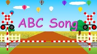 ABC alphabet song | ABCの歌 | 踏切・貨物列車アニメ thumbnail