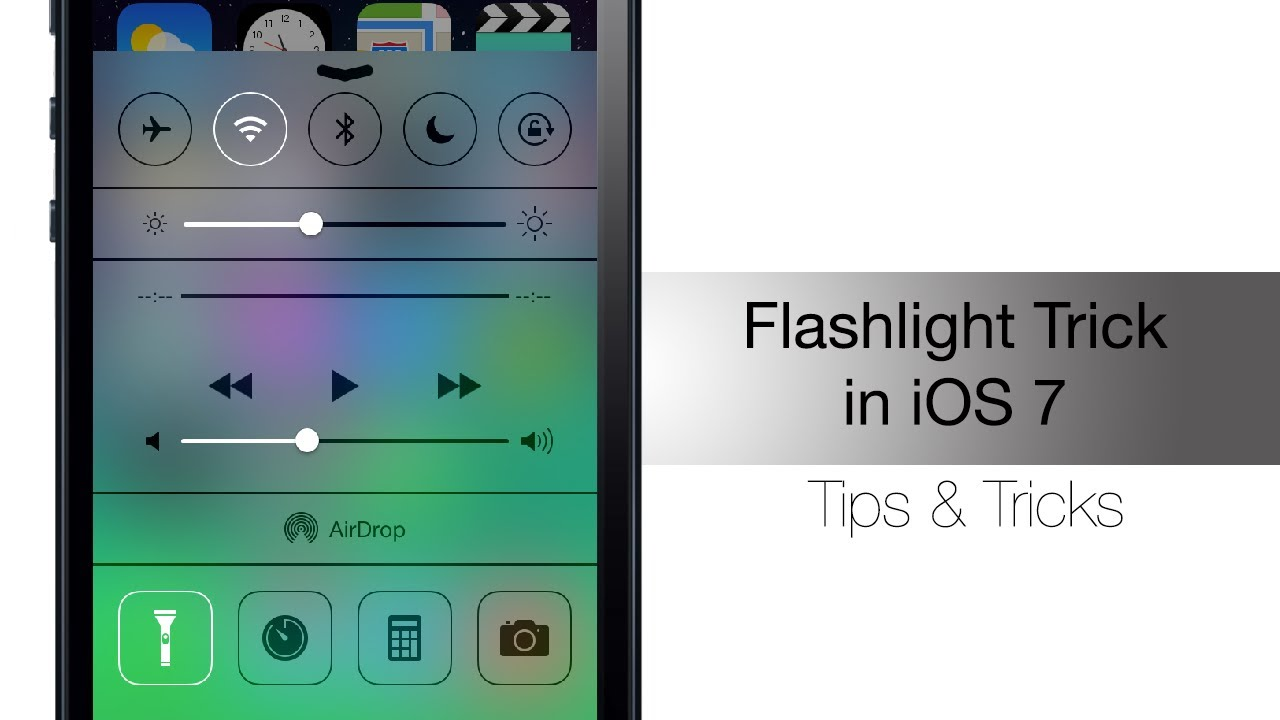 turn off flashlight on iphone how to quickly turn flashlight in ios 7 iphone hacks 18105