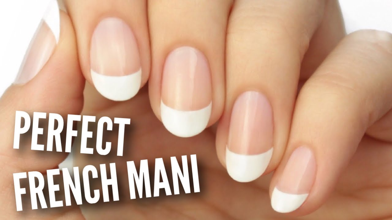 Paint A French Manicure Perfectly! - YouTube