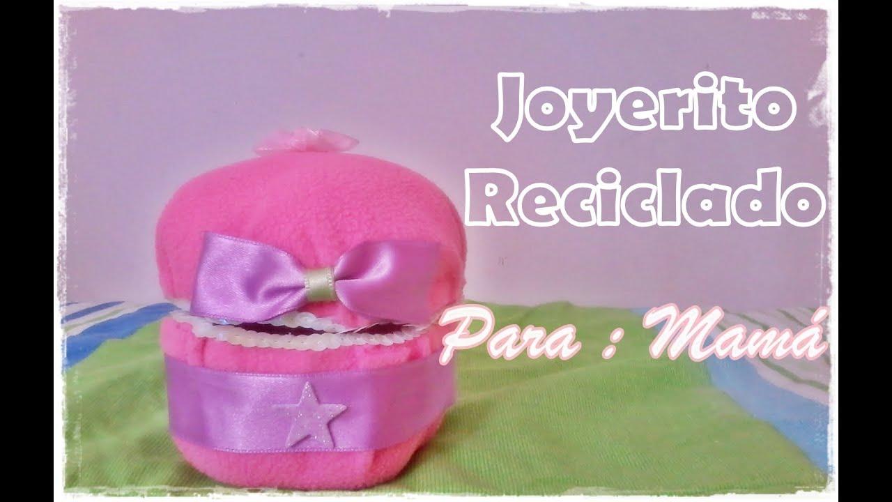 Joyerito reciclado regalo para mam youtube - Regalos para mama manualidades ...