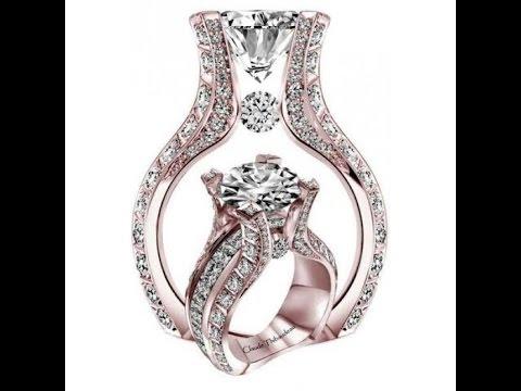 925 Silver Rose Gold Engagement Ring Set