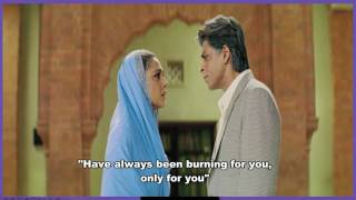 TERE LIYE - VEER ZAARA - ENG SUBS - FULL SONG - *HQ* & *HD* ( BLUE RAY )