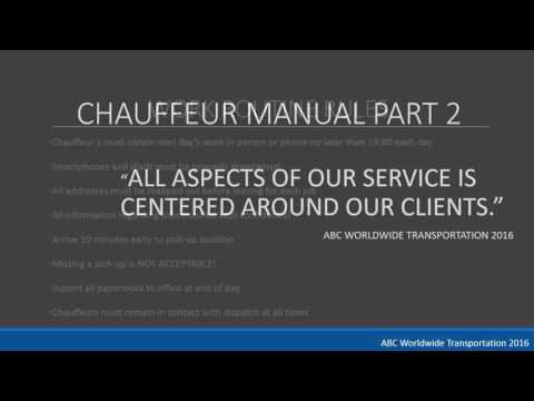Chauffeur Manual Overview With Audio YouTube