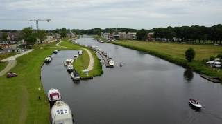 Drone video, Jachthaven Ommen gelegen aan de ''Overijsselse Vecht''   11 juni 2017