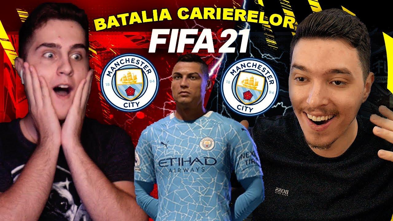 CRISTIANO RONALDO LA MANCHESTER CITY !!! BATALIA CARIERELOR CU SINNER / FIFA 21 ROMANIA