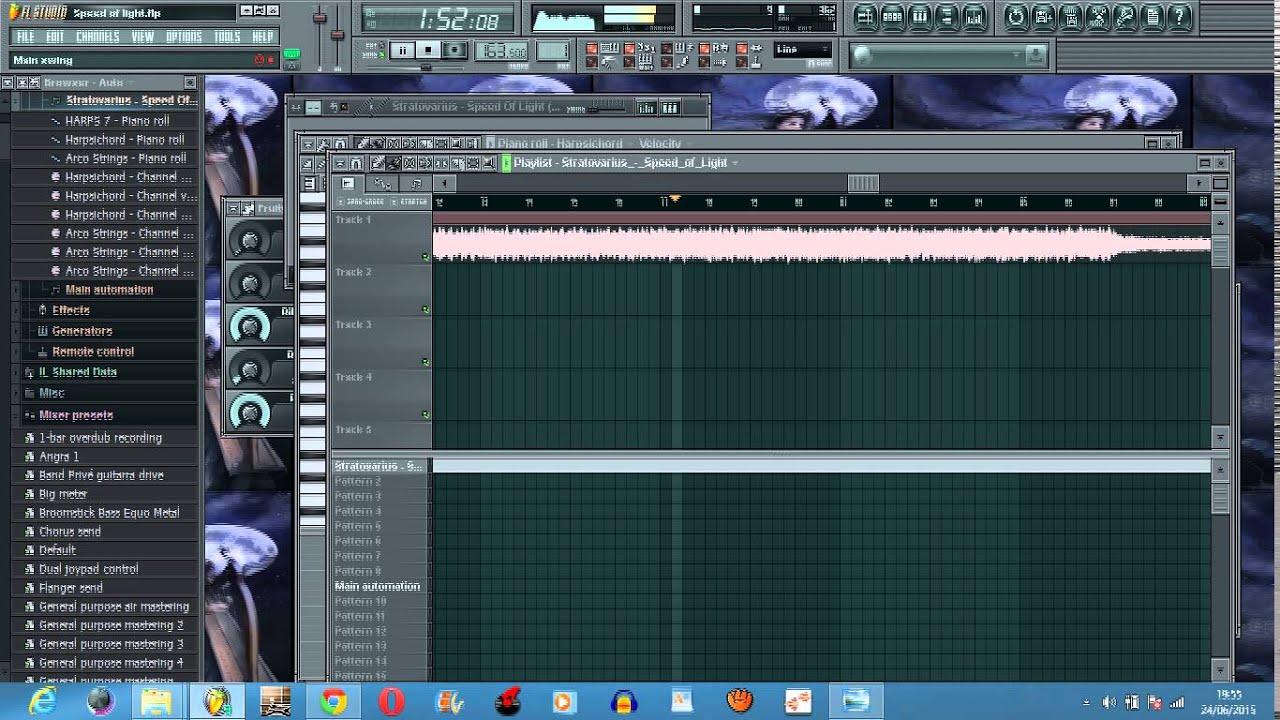 Stratovarius Sd Of Light Keyboard Cover On Fl Studio Original Arrangement Hd