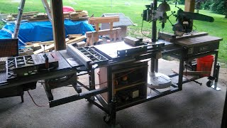 Radial Arm Saw/Table Saw/Drill Press Mobile Workbench (Part 1)