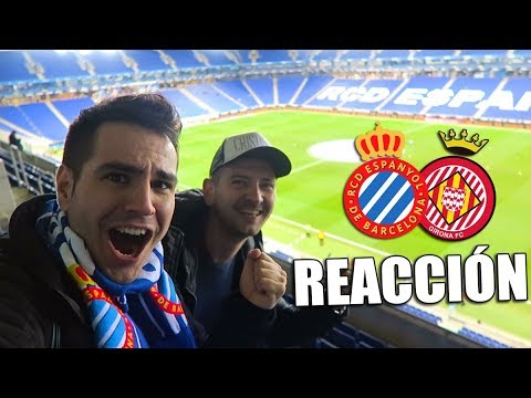 REACCIÓN EN EL ESTADIO AL DERBI CATALÁN!! | Espanyol VS Girona | Jornada 15
