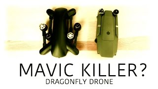 DJI MAVIC KILLER? - Dragonfly 4K Folding Drone